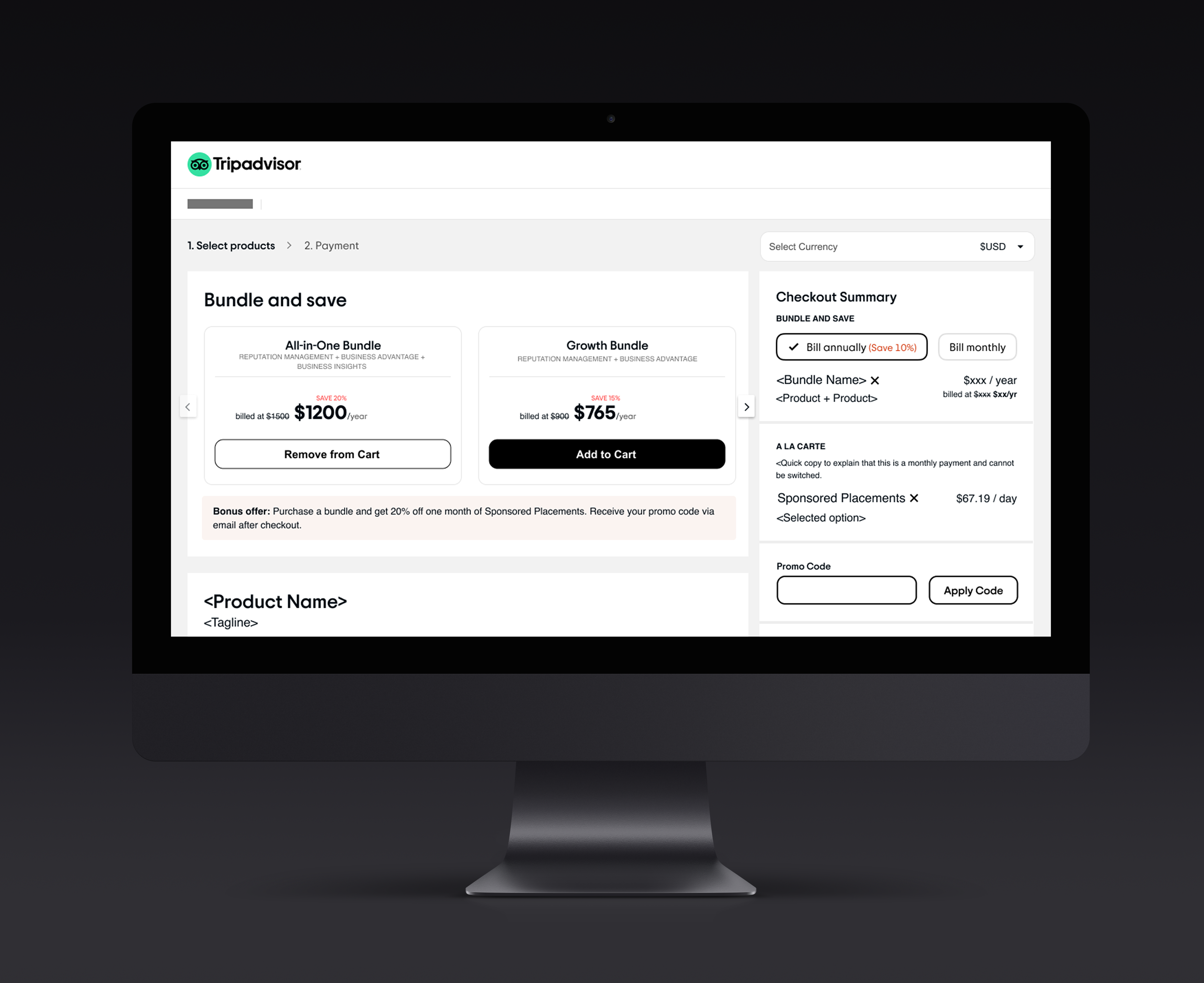 A New Product Page